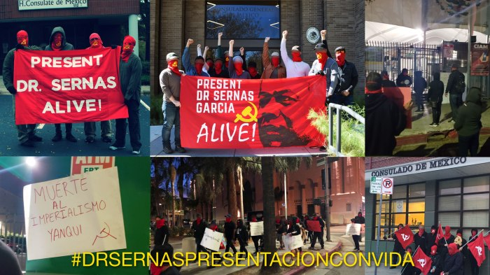 Nationwide Demonstrations in US Call to Present Dr. Sernas Alive