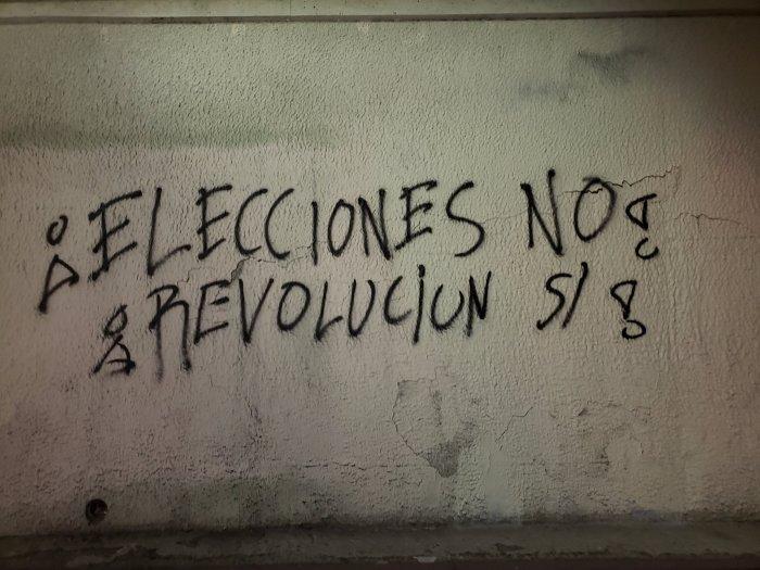 ¡Elecciones, no! ¡Revolución,si!